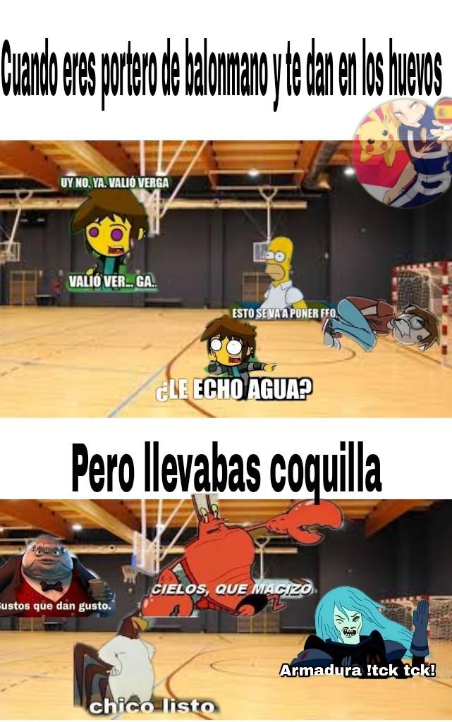 El título se fue a jugar balonmano - meme