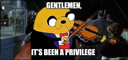 RIP adventure time, one of the most perfect shows of my childhood - meme