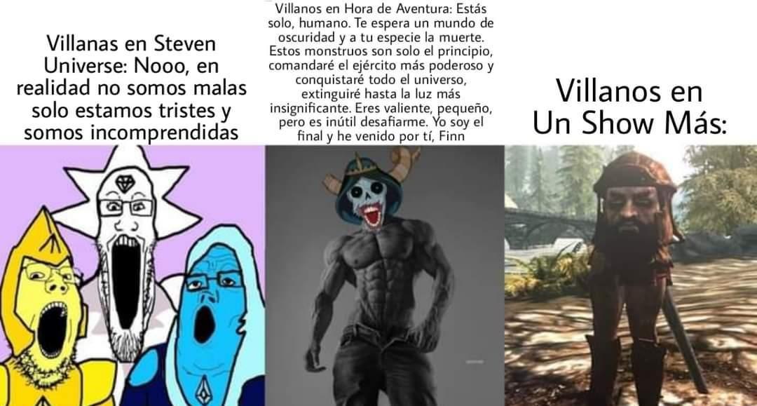 Los villanos de cartoon nertwork - meme