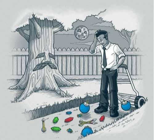 cutting grass is fun - meme