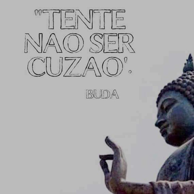 Conselhos do sábio Buda. - meme