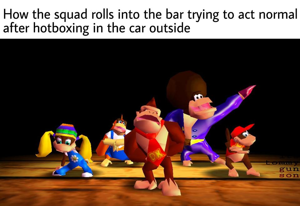 D. K., Donkey Kong - meme
