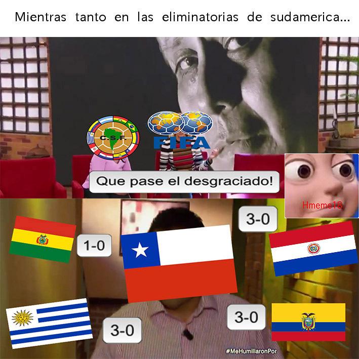 Eliminatorias sudamericanas - meme
