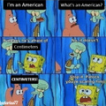 Making fun of America and Spongebob, really original, I know