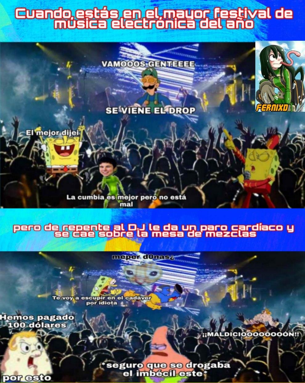 Nunca me ha pasado porque no he estado en festivales :yaoming: - meme
