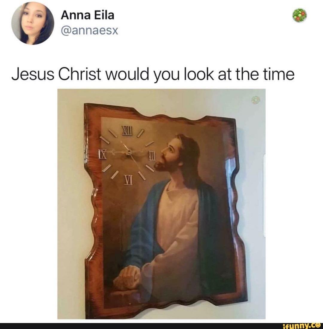 Jesus clock - meme