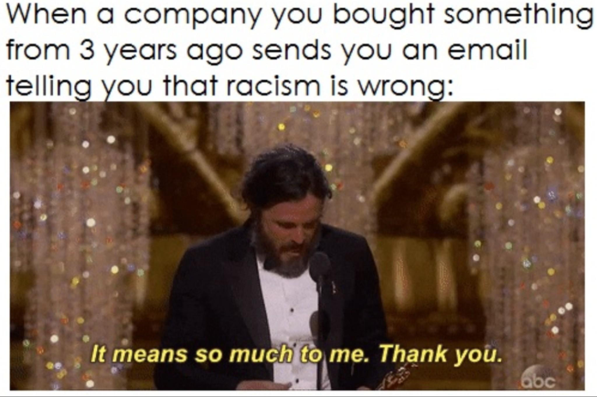Thank you corporate America - meme