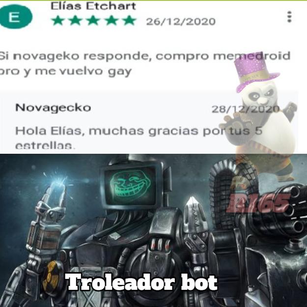 Troleador bot - meme