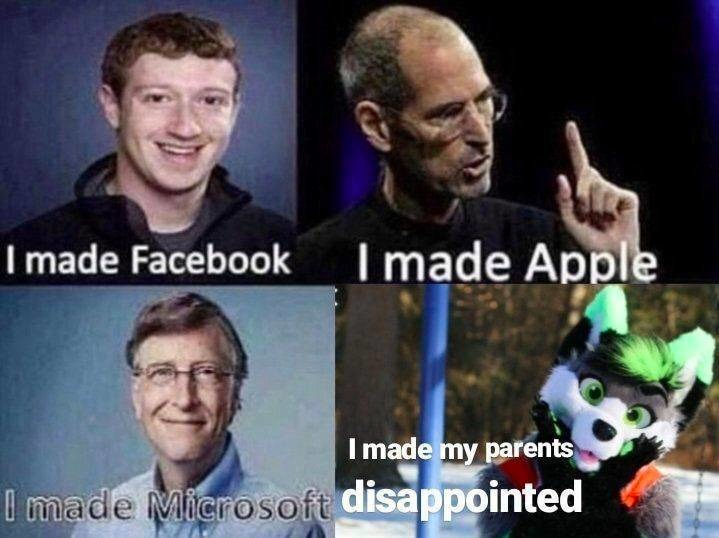 They disappoint us all - meme
