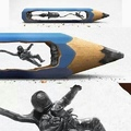 pencil lead sculptures are amazing.