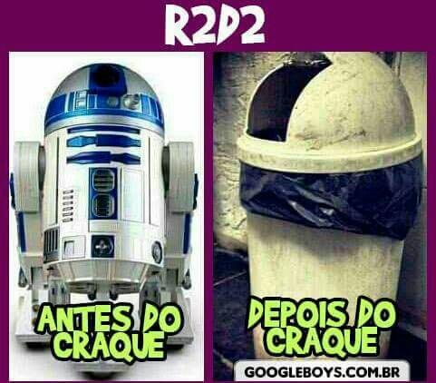 R2D2 se envolveu com dorgas - meme
