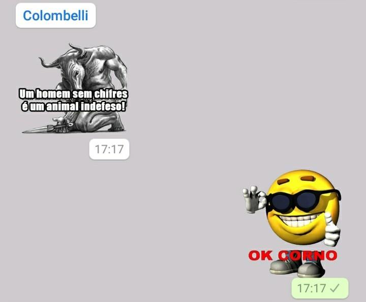 Mais um dia de conversas constritivas no Whatsapp - meme
