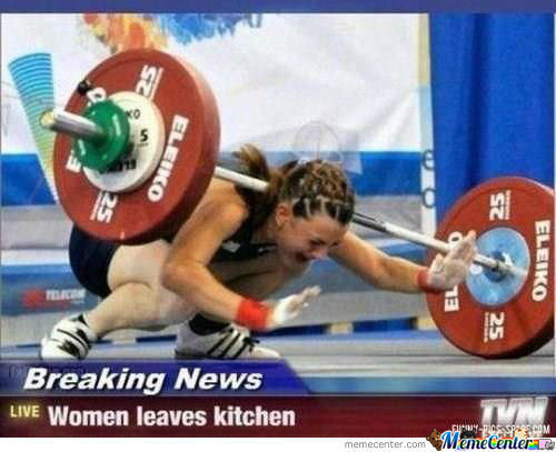 When women leave the kitchen - meme