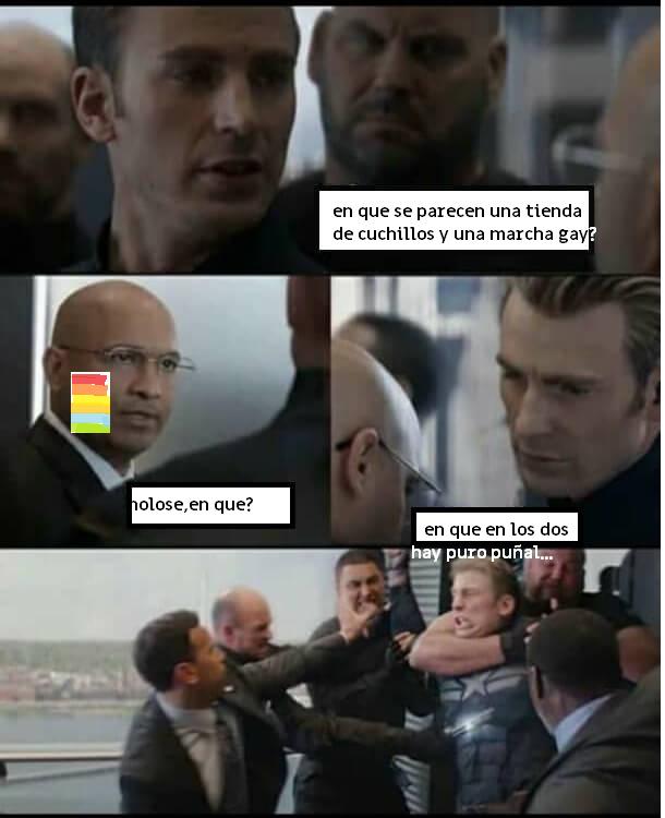 para quien no le entendió: en Mexico se les dice puñales a los gays - meme