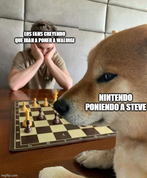 Perro jugando al ajedrez - meme
