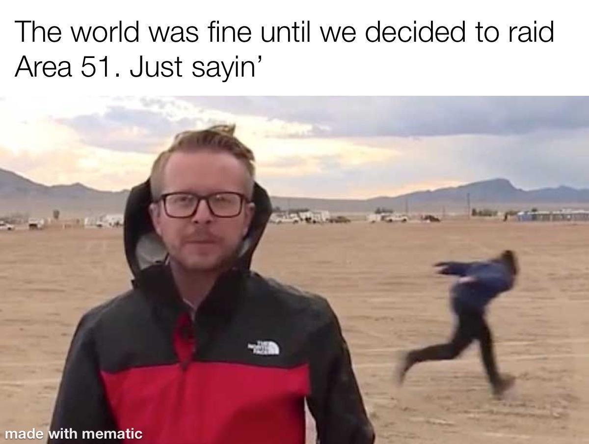 raid area 51 - meme