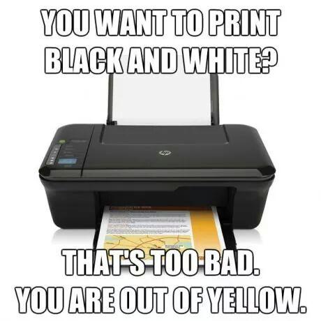 Stupid printer - meme