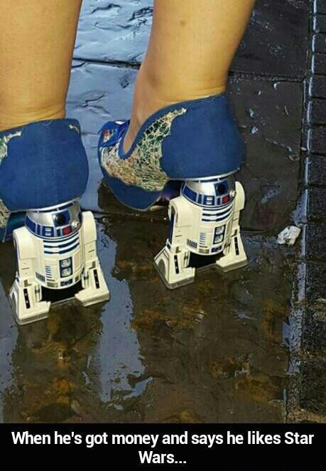 R2d2 heels - meme