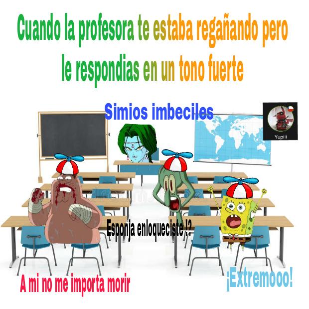 Meme echo en clases :D