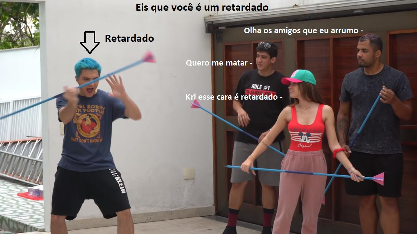 Felipe NETO RETARDADO - meme