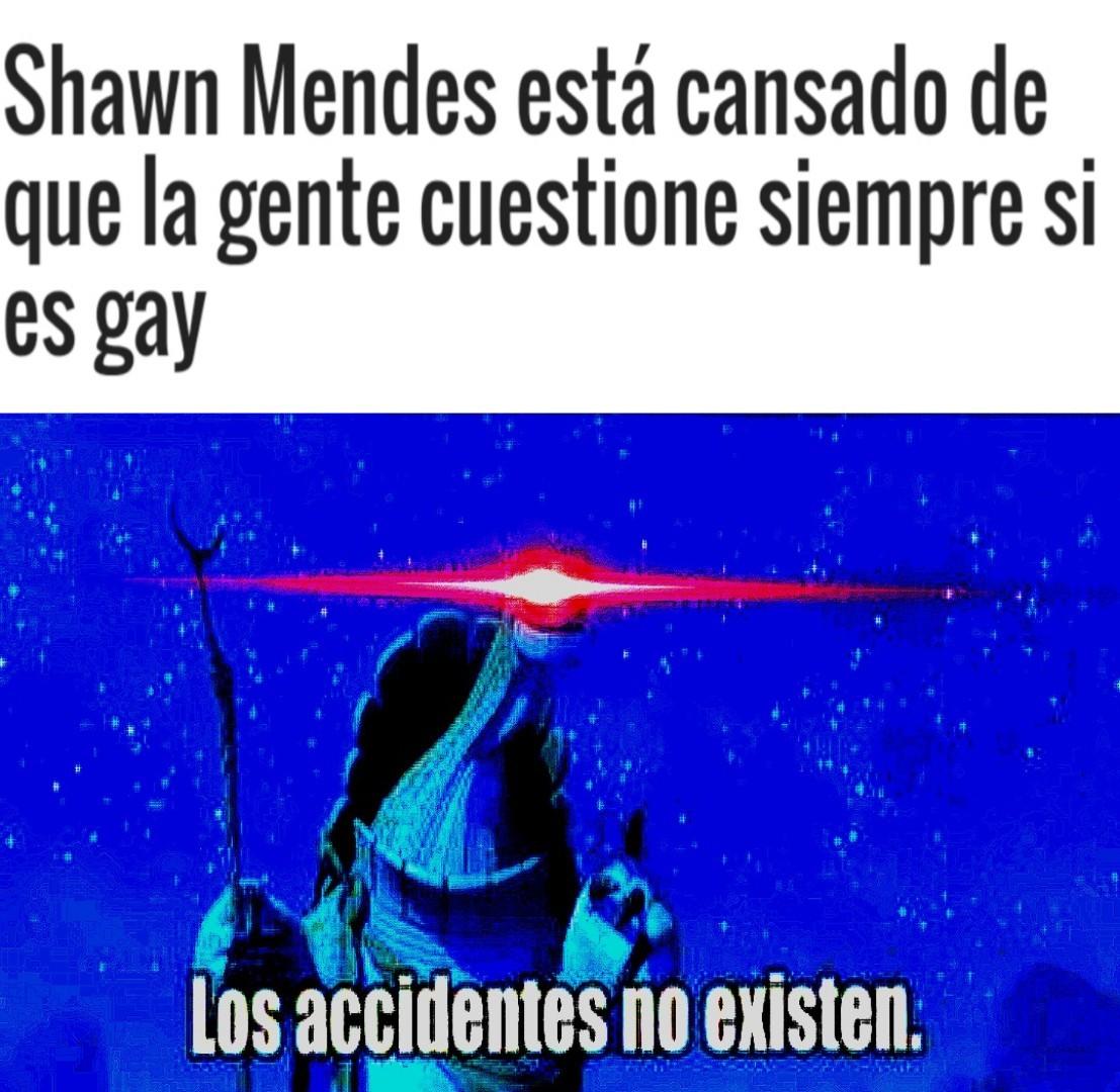 Yo no existo porque soy un accidente - meme