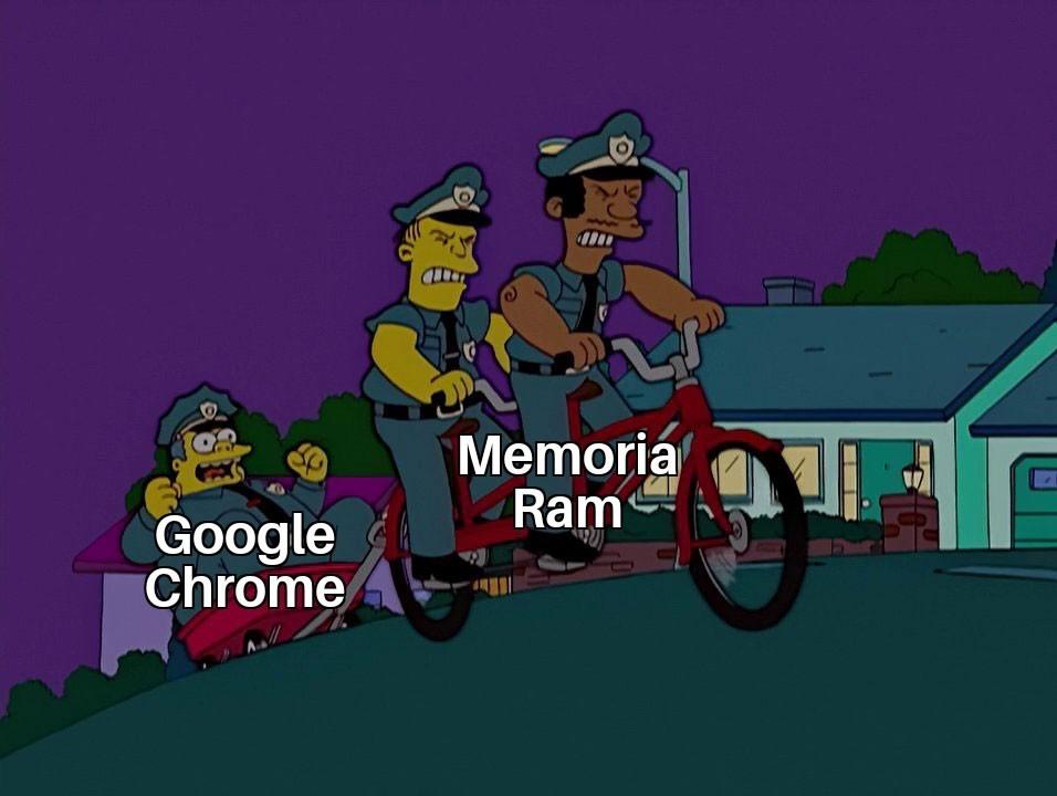 Consumiendo ram desde tiempo inmemoriable - meme