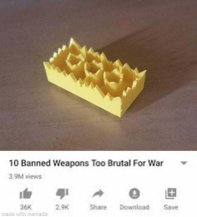 10 banned weapons too brutal for war - meme