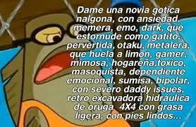 quiero gotica culona >:D - meme