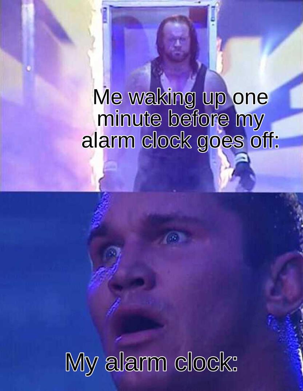 Insert alarm clock here - meme
