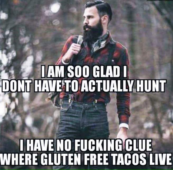 Hipsters shouldn't have beards - meme