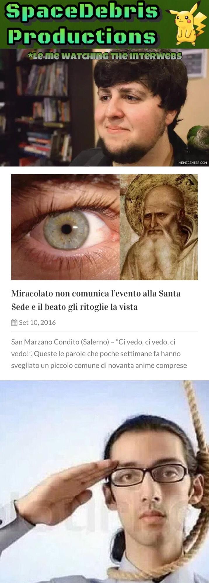 Ultimo meme di Lercio.it (La Stagione 2 sta finendo)