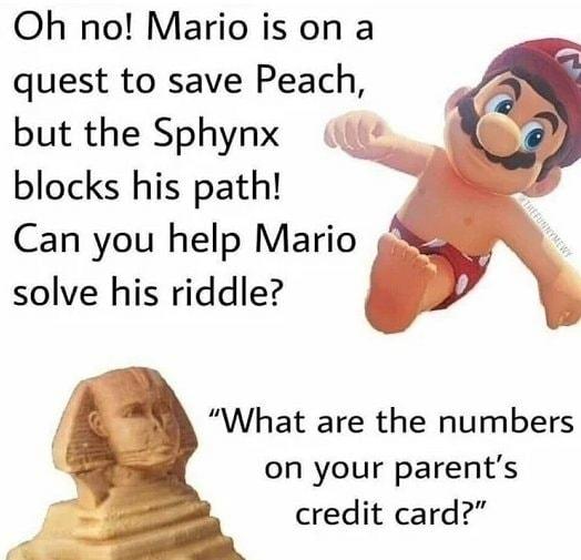 Mario made me nut - meme