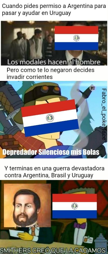 Creo que empezaré con memes de la guerra de la triple alianza