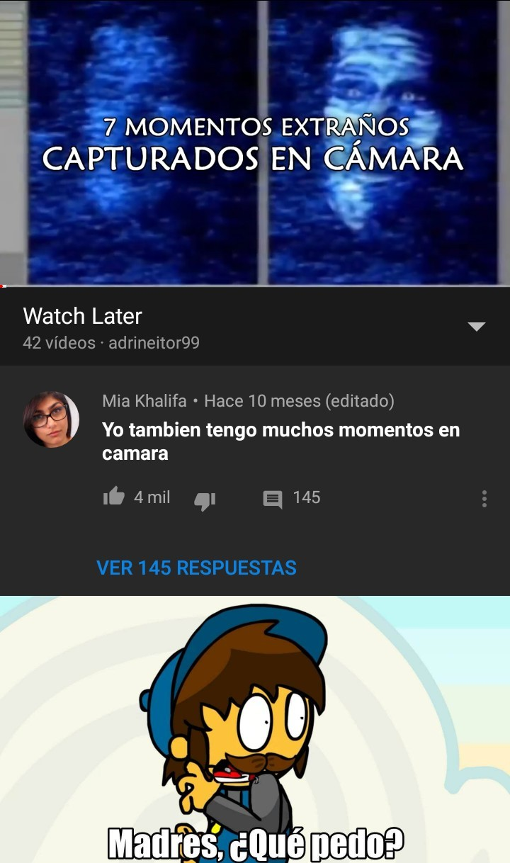 Un dia normal en youtube - meme