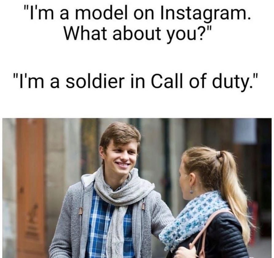 haha no instagram model - meme