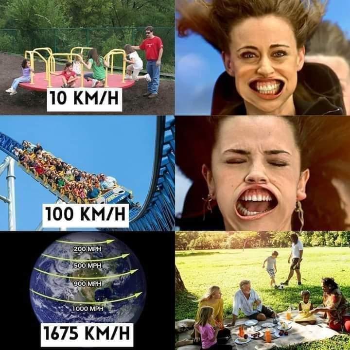 The earth is - meme