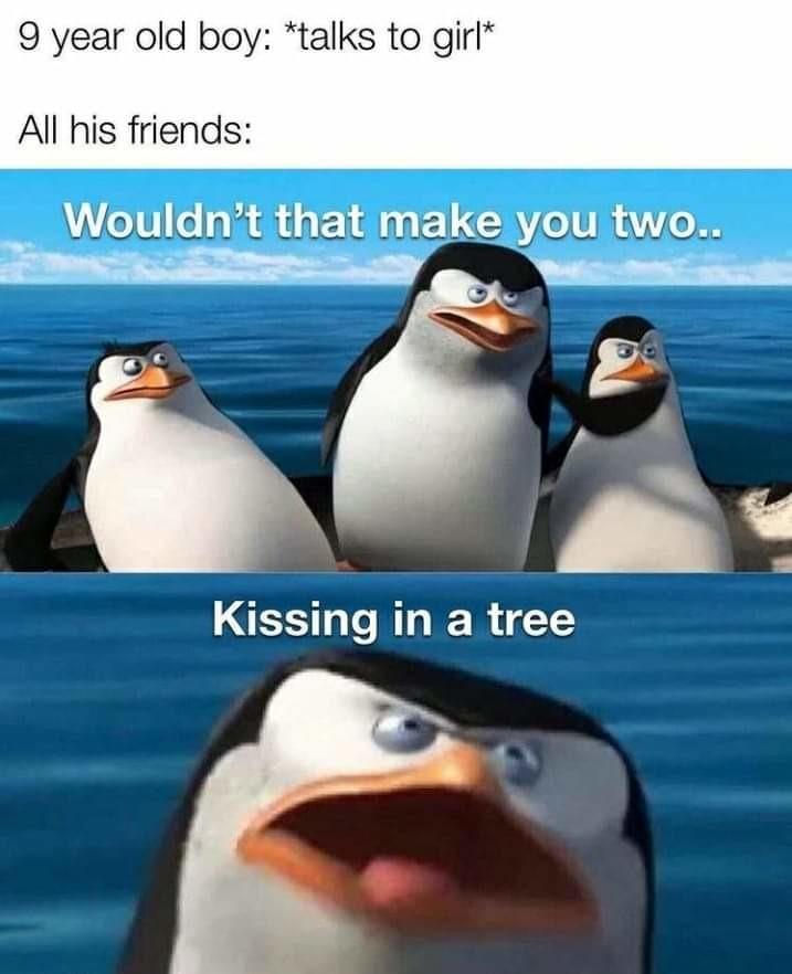 Kissing girls like a faggot - meme
