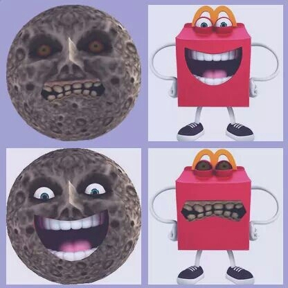 Scary moon - meme