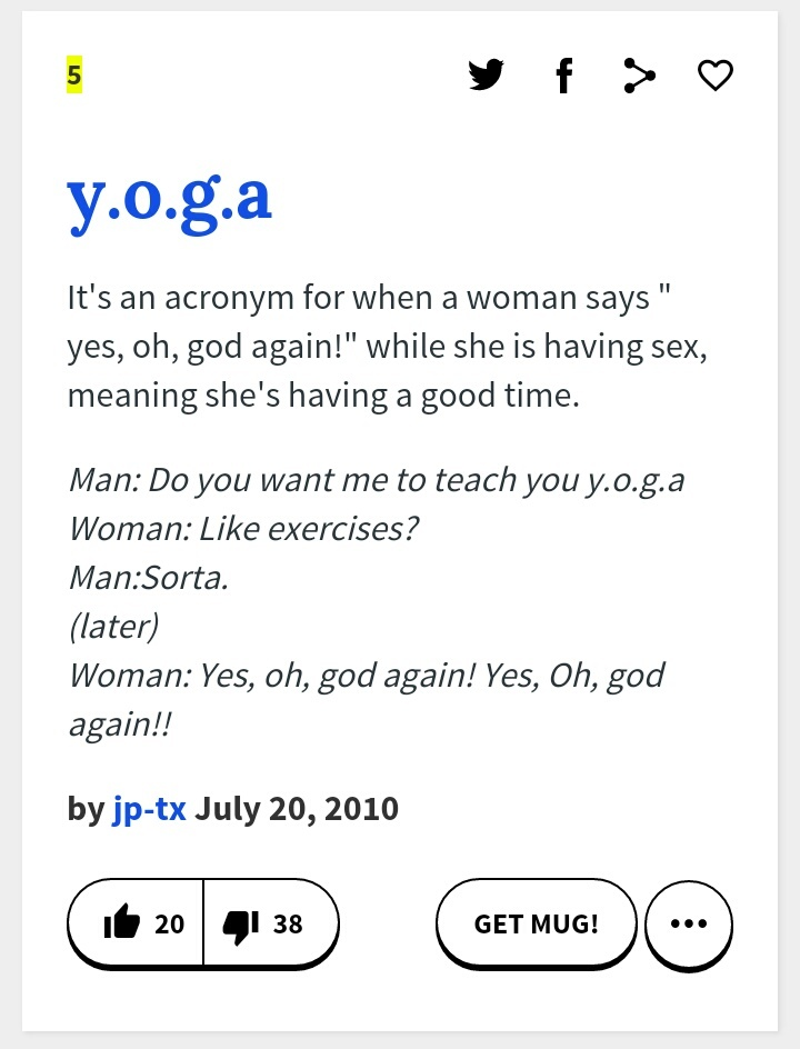 I like yoga - meme