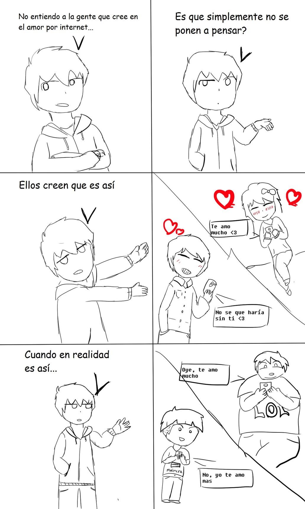 Amoríos por internet. jota pe ge - meme