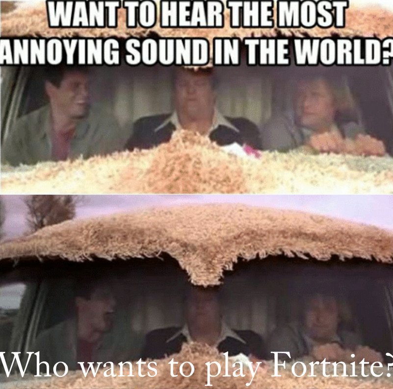 There's probably a lot of fortnite players on here - meme