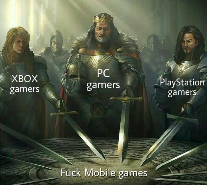 Mobile nem é gente - meme