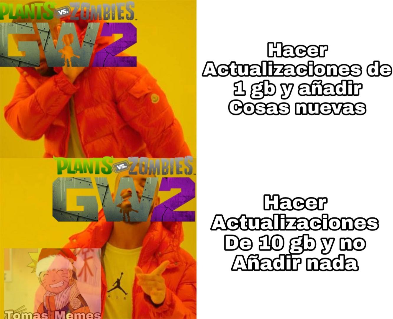 Pinches actualizaciones - meme
