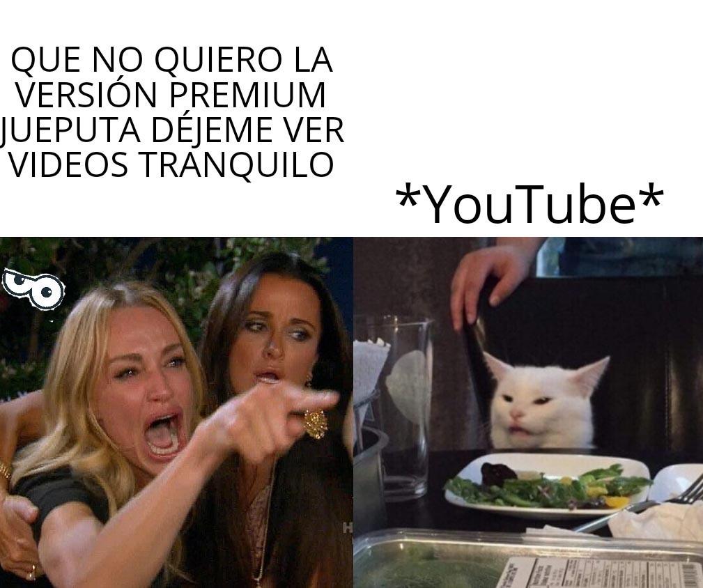 Más insistente que YouTube - meme