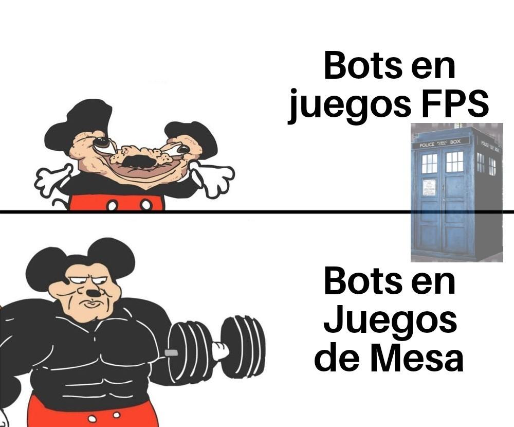 Los Bots estan Mamadisimos - meme