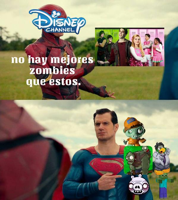 (inserte más zombies aqui) p.d: zombies de Disney es una basura. - meme
