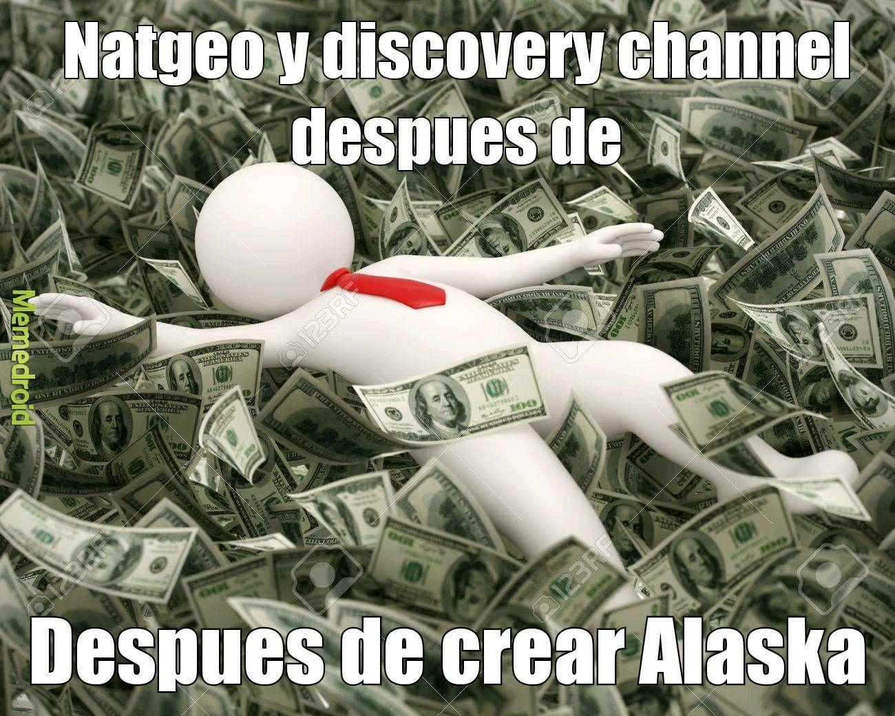 180.000 documentales genericos de alaska - meme