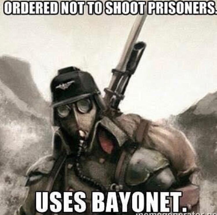 civilians ? oh you mean potential chaos cultists - meme