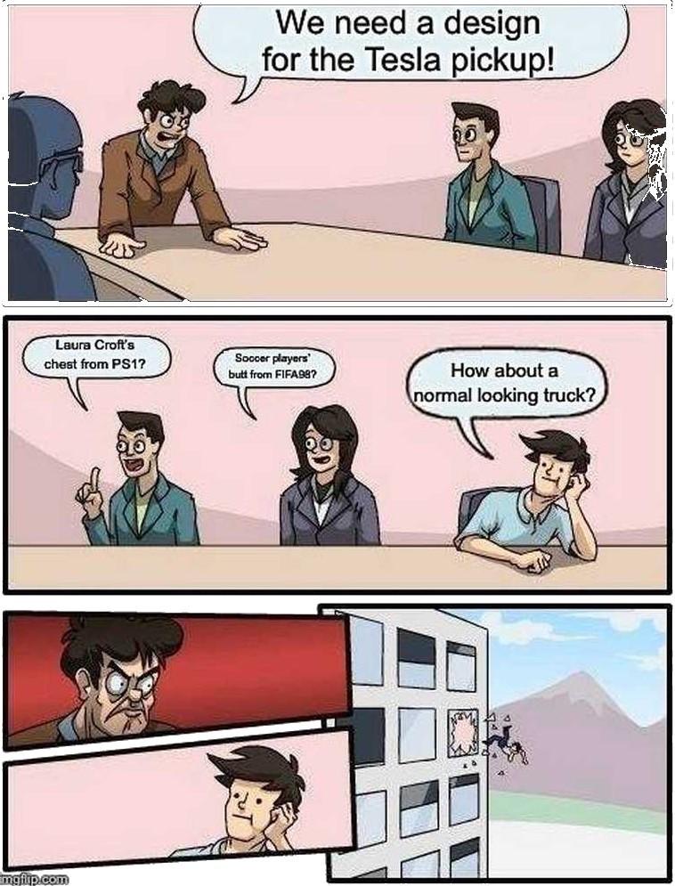 yesla cyber truck - meme