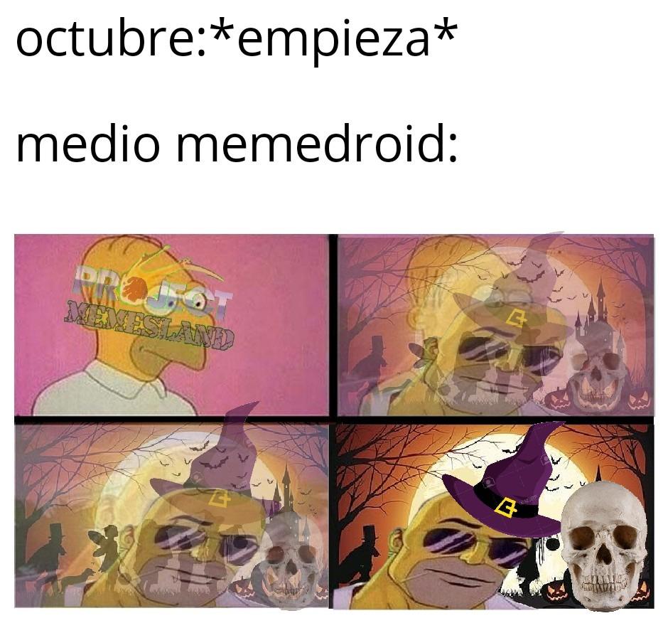 me incluyo pd: happy spooky month - meme